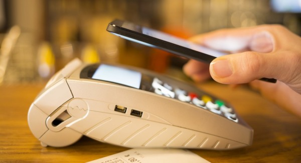 NFC mobile payment on card terminal