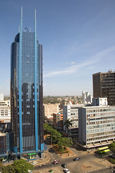 Nairobi glass tower