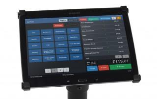 AirPOS display on tablet screen