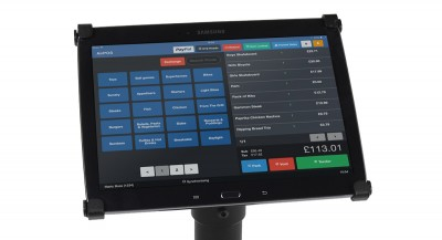 AirPOS display on tablet screen