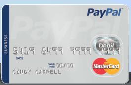 PayPal debit card