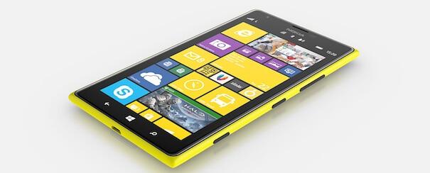 Nokia Lumia 1520 phone lying down