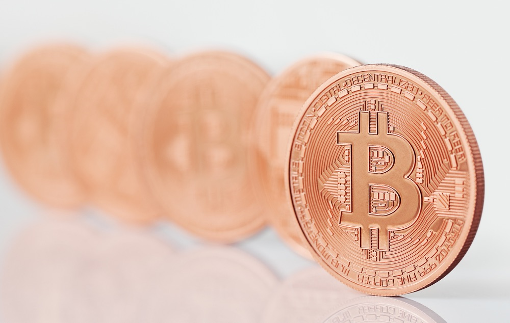 Bitcoins next to each other