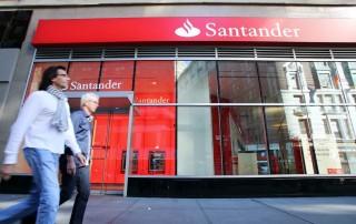 front of Santander bank