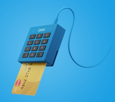 iZettle Lite reader with Mastercard inserted