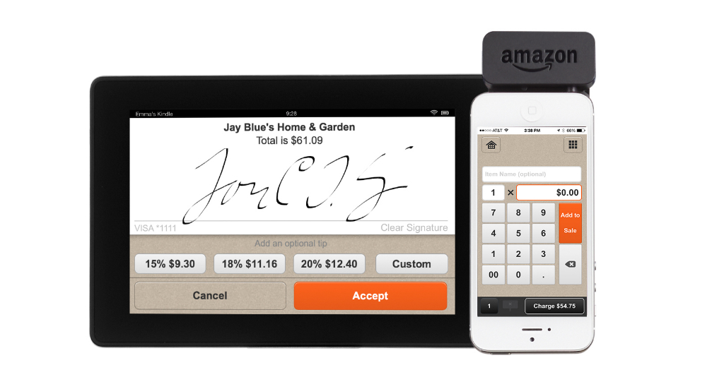 Amazon Local Register app and signature screen