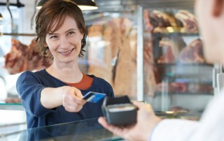 contactless card payment over counter
