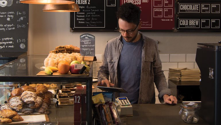 intelligentpos point of sale system with iZettle card reader