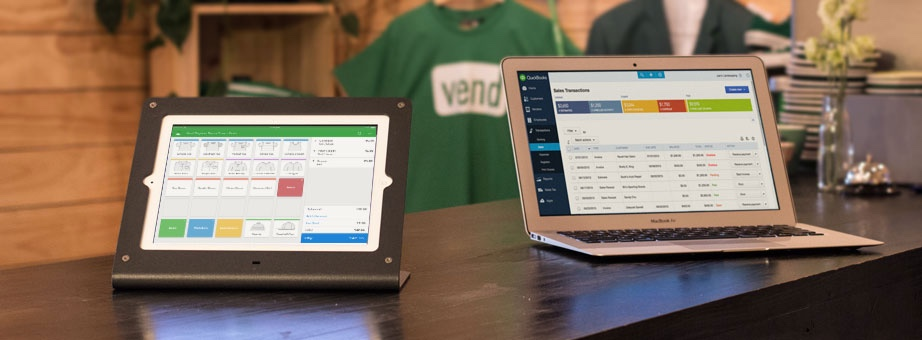 Vend POS on tablet and laptop