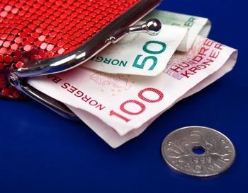 Norwegian cash in purse