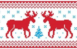 Norwegian festive reindeer banner