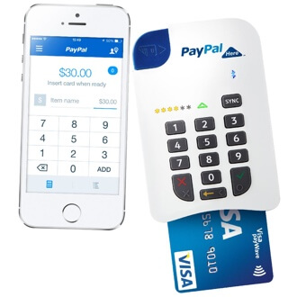 PayPal Here Australia app and card reader