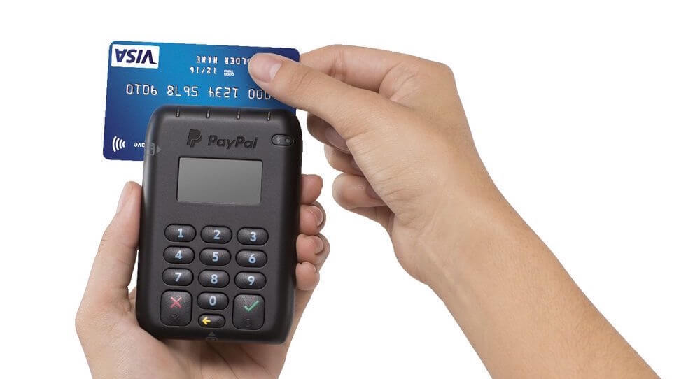 PayPal Here card reader swipe