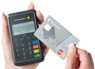 CommBank card machine with Mastercard