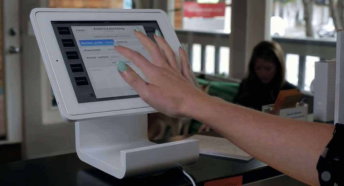 Square Stand with iPad and Square Point of Sale