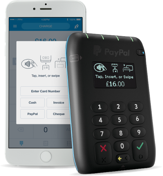 PayPal Here UK card reader