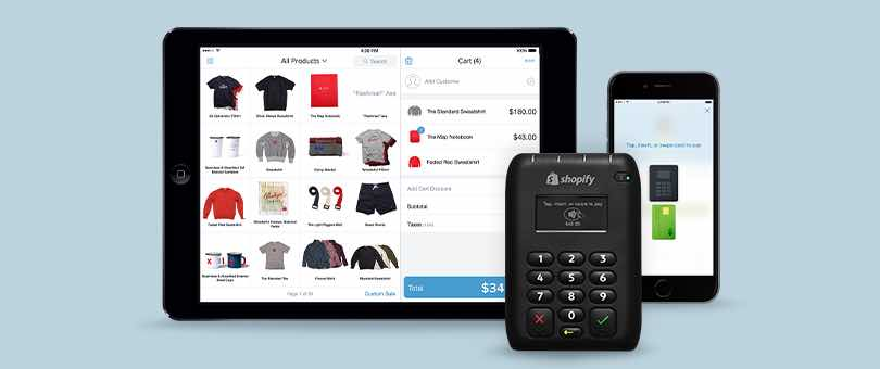 Shopify card reader and app