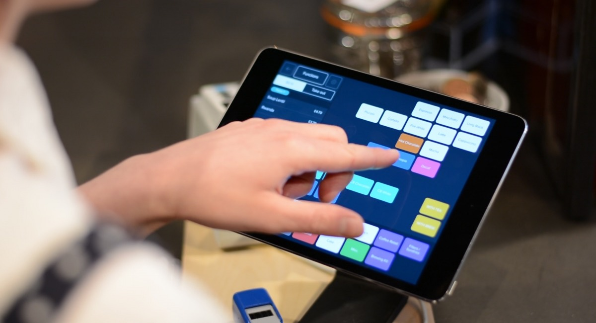 Intelligentpos POS app menu on tablet