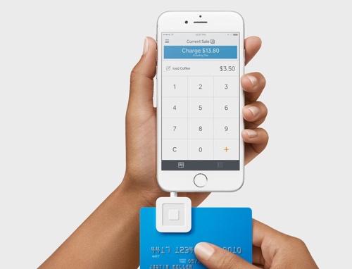 Square magstripe reader taking swipe payment
