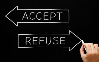 accept and refuse arrows