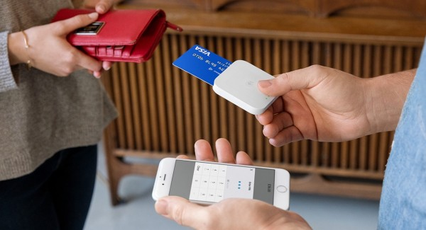 Square Reader during transaction
