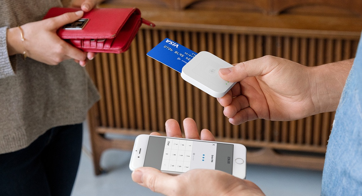 Square Reader during transaction