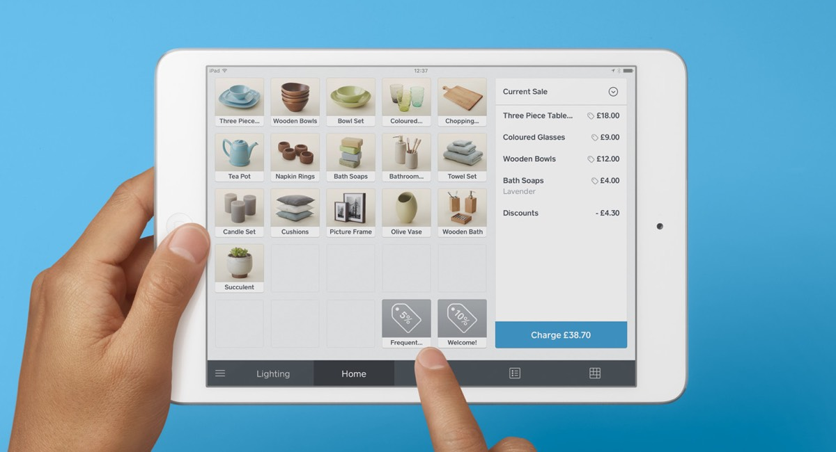 Square Point of Sale app on iPad