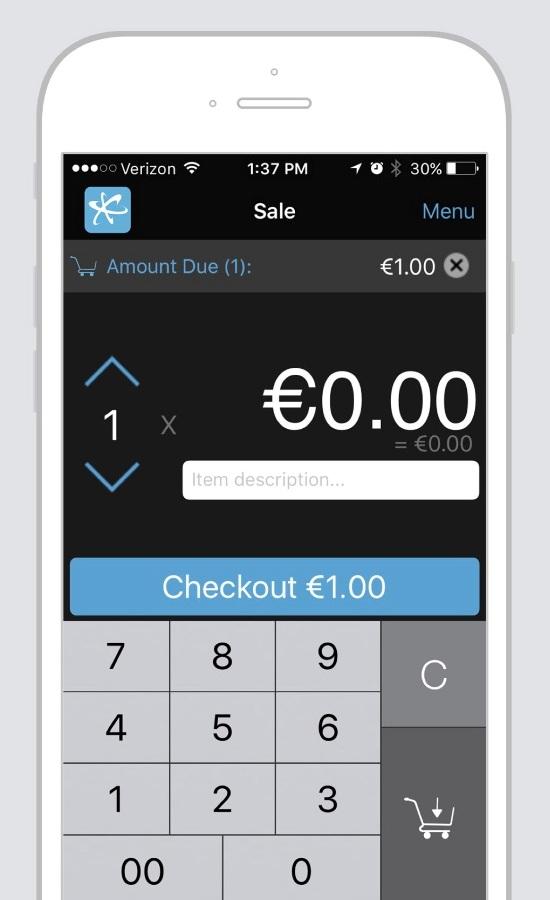 MobileMerchant app checkout