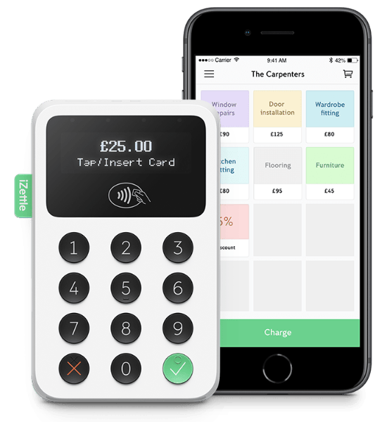 iZettle Reader with iPhone app