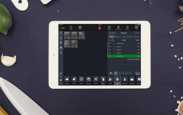 Lightspeed Restaurant POS tablet