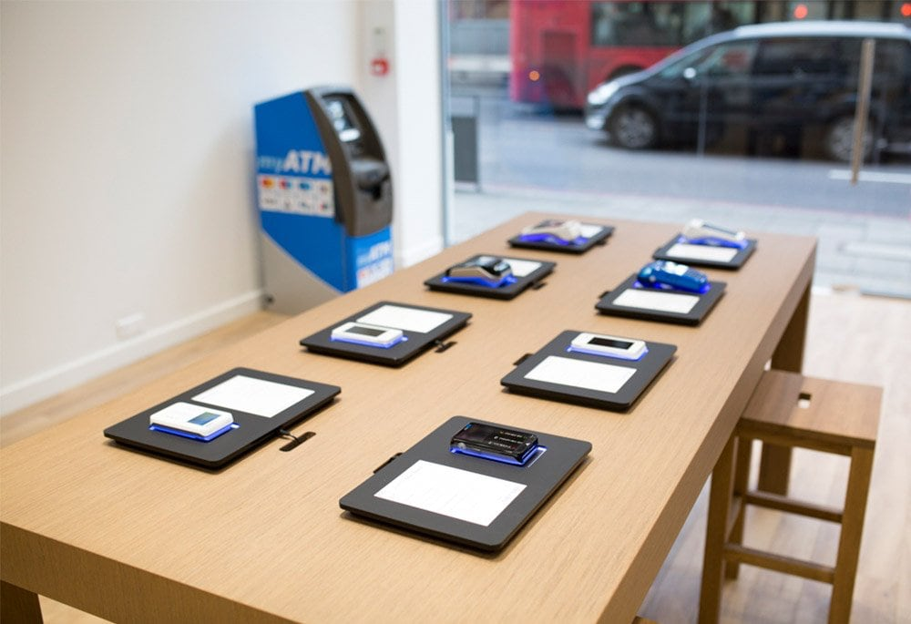 card machine selection in myPOS London store