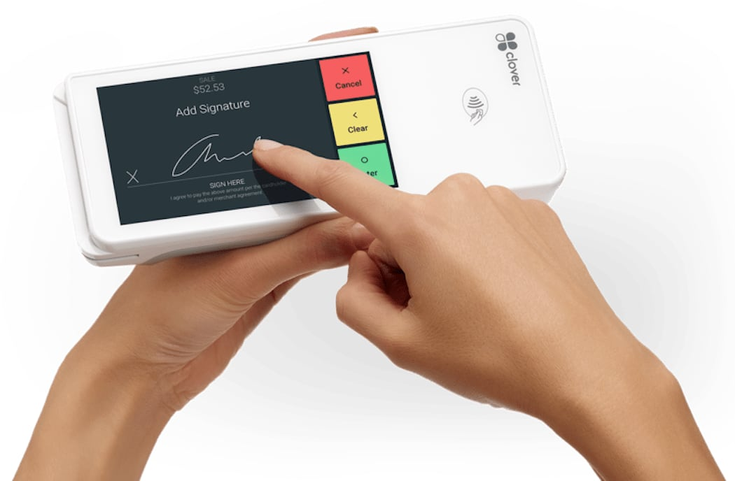 Clover Flex signature for card payment