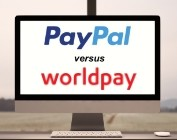PayPal vs Worldpay on computer screen