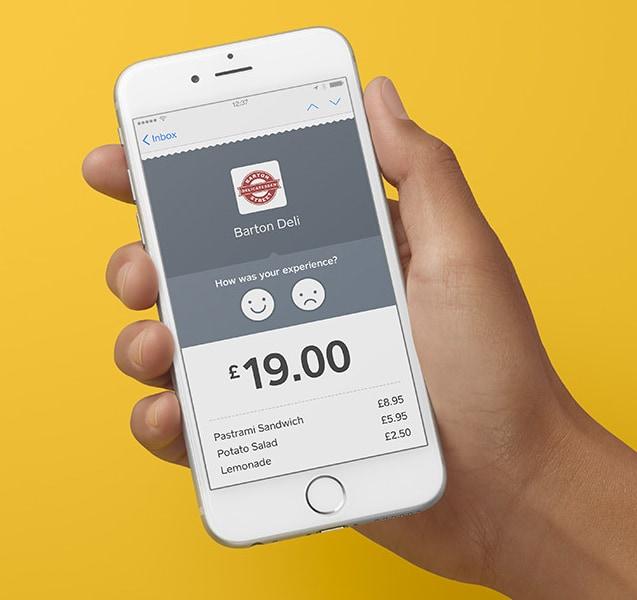 Square customer feedback on digital receipt