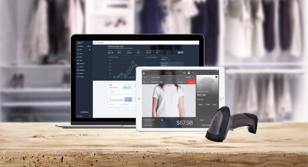 Lightspeed Retail ePOS WITH barcode scanner, computer and iPad