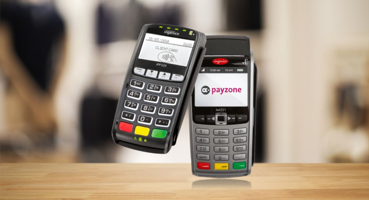 Payzone terminals on tabletop