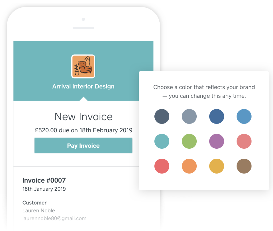 Square invoice theme colours