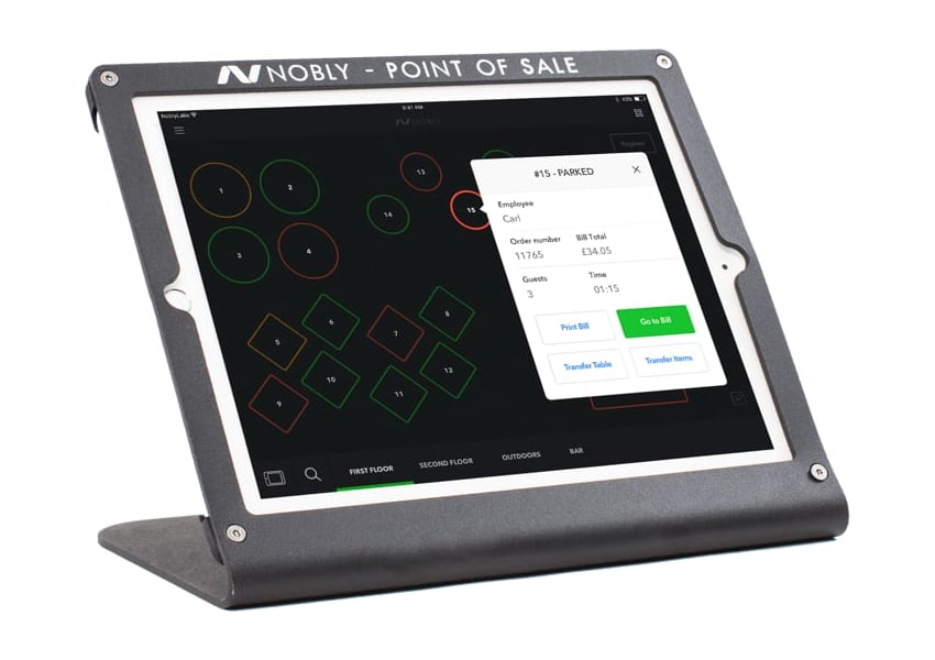 Nobly POS table menu iPad