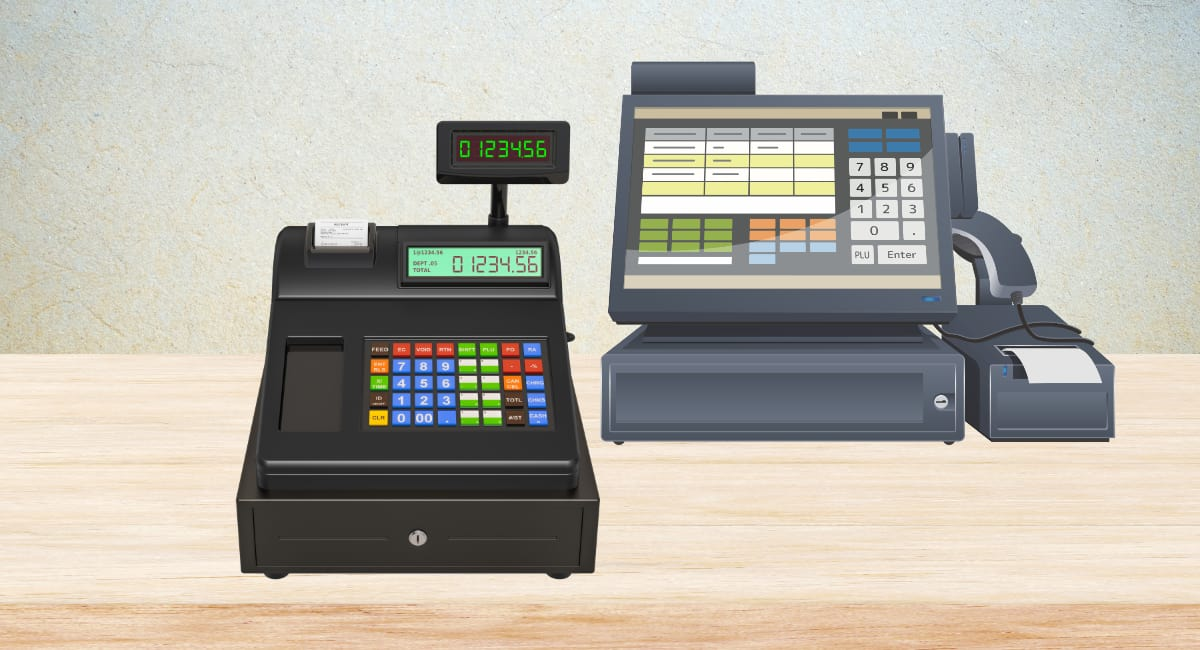 Cash register vs POS system