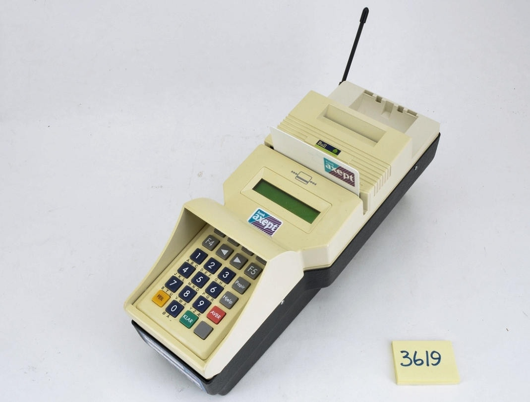 Bank Axept terminal from Norway, 1997