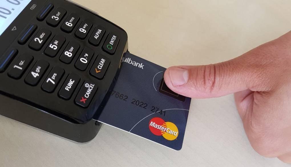 Biometric Mastercard in terminal