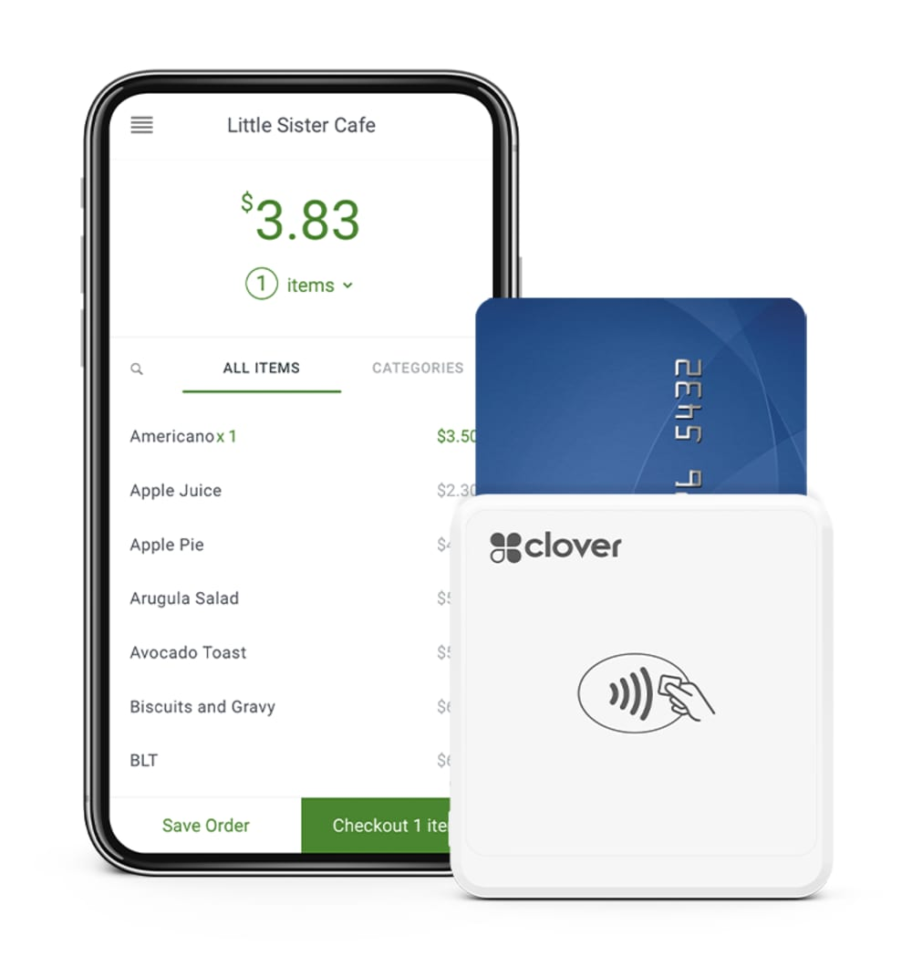 Clover Go app and card reader
