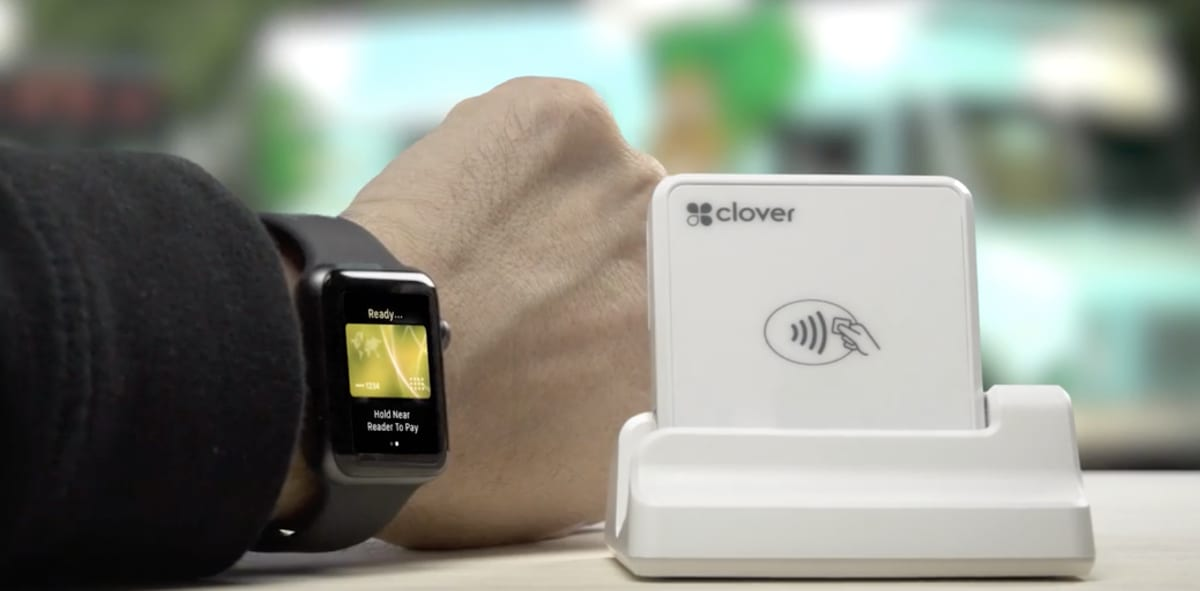 Clover Go processing Apple Watch payment
