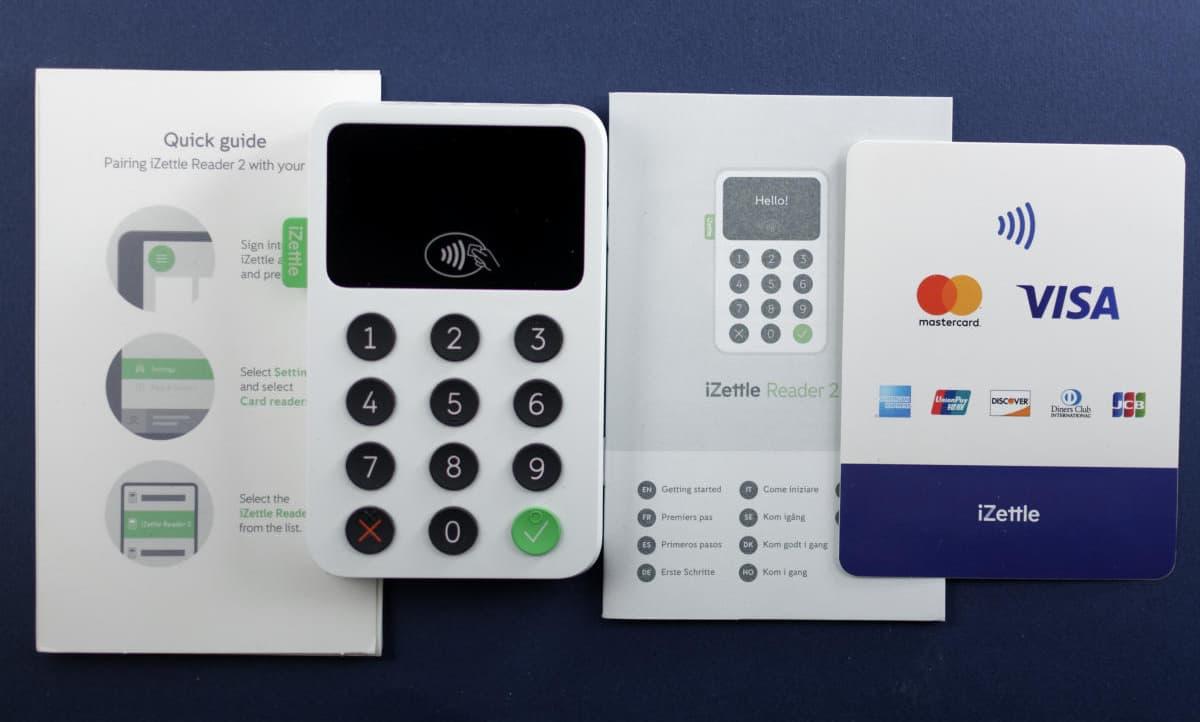 iZettle card reader box contents