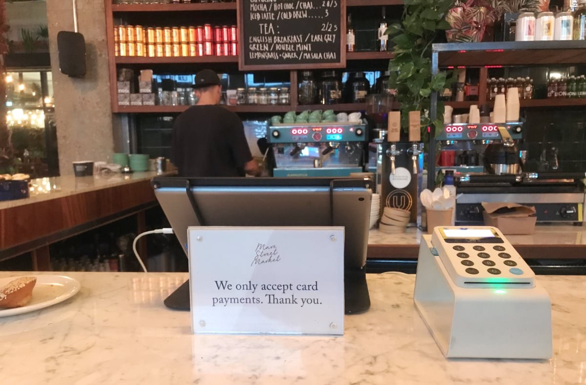 iZettle Reader in London deli