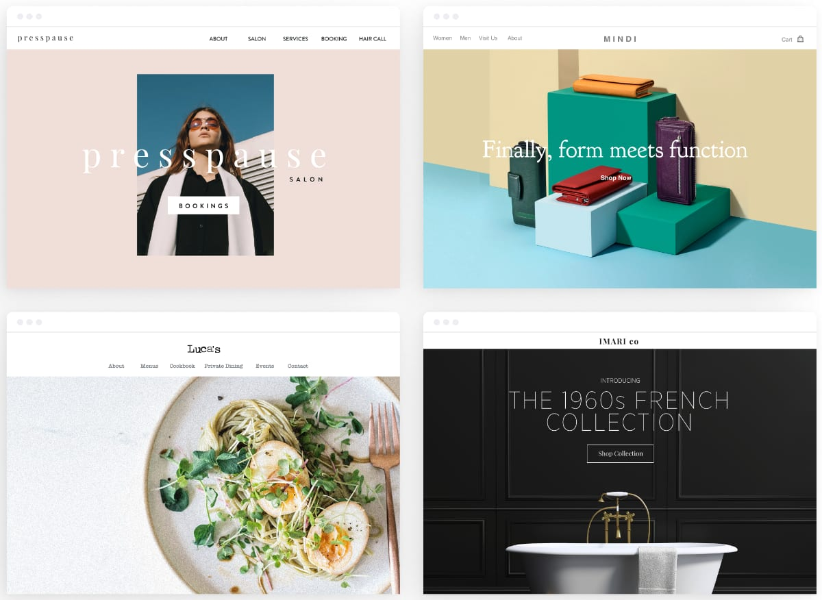 Square Online Store website examples
