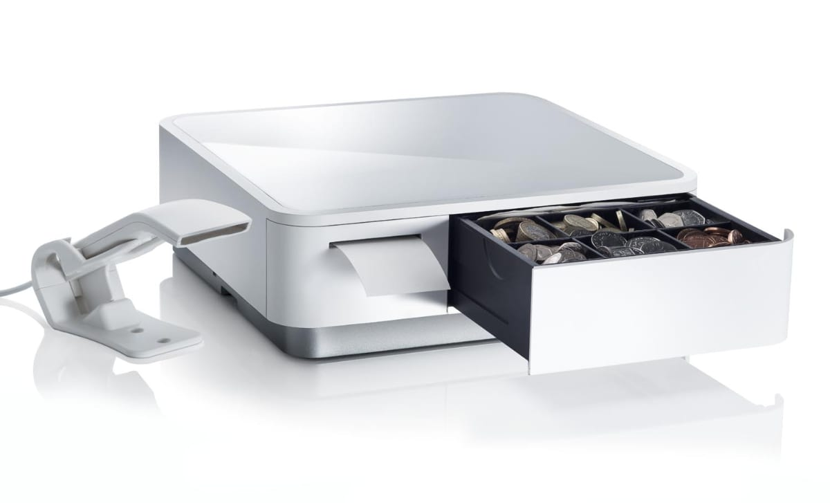 Square receipt printer and cash drawer combo