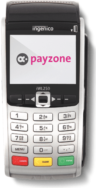 Payzone mobile card machine