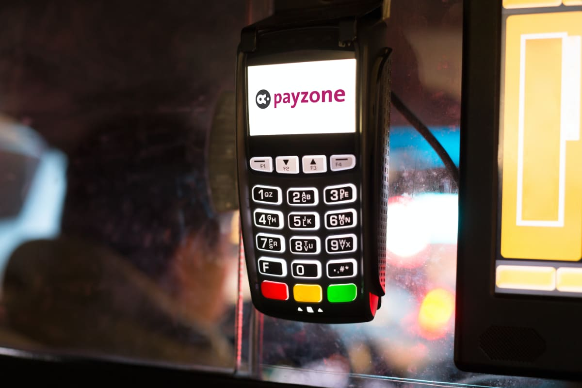 Payzone taxi card machine