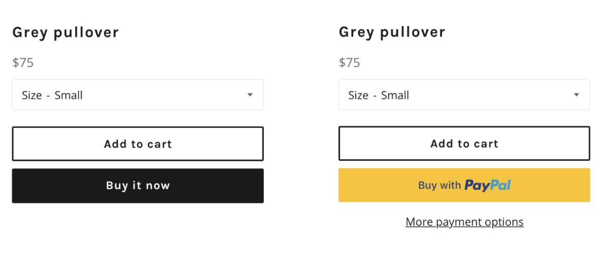 Shopify checkout buttons